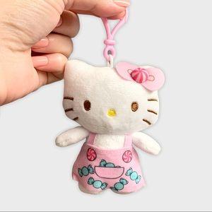 Hello Kitty Plush Dangler Keychain Candy Dress